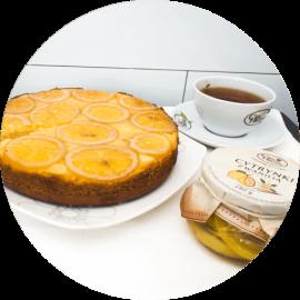 Ciasto ozdobione plastrami słodkich cytrynek